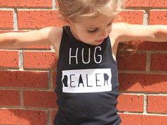 Hug Dealer Tank, Little Girls Tank, Girls Shirt, Toddler Shirt, Funny Kids Shirt, Girls Clothing