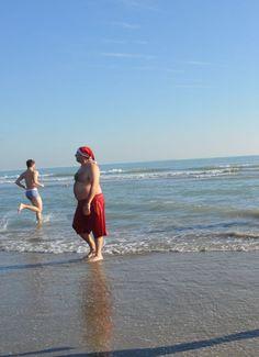#VeniceLido (01.01.2015) - the winter swimmer #SantaClaus