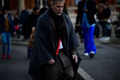 Menswear Street Style Hack: The Blanket Cape - -Wmag