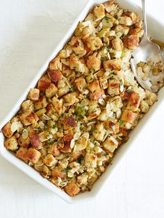 Get Ina Garten's recipe for Herb and Apple Stuffing #Thanksgiving