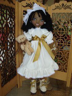 Bonecas de pano negra.  Soraia Flores.