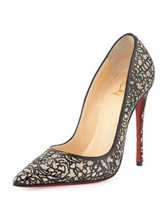 So+Pretty+Patent+Glitter+Red+Sole+Pump,+Silver+by+Christian+Louboutin+at+Neiman+Marcus.