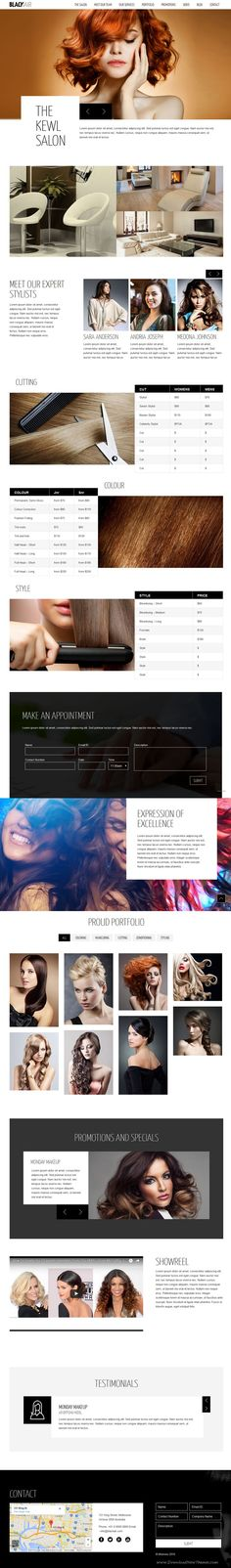 Blackair is a Responsive, One Page Parallax, and Retina enabled WordPress theme built using Bootstrap 3+ framework for #Hairdressers, Hair #salons, Stylists and similar professionals #website. Download Now!