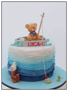 Nautical sailor cake :) fondant teddy x