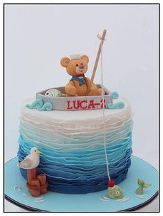 Nautical sailor cake :) fondant teddy x