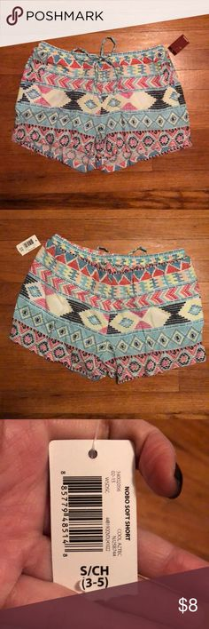 Aztec printed shorts Super cute Aztec printed shorts. Received as a gift but just not really my style. Brand new with tags. No trades. No Boundaries Shorts