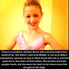 I love Chloe she is my idol and if she leaves I will cry!