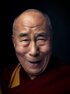 Photograph by Marco Grob for TIME..........Behind TIME's portrait of the Dalai Lama.........timelightbox.tumblr.com