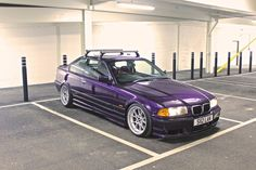 Technoviolet BMW e36 coupe on classic BBS RK wheels. Love this colour.