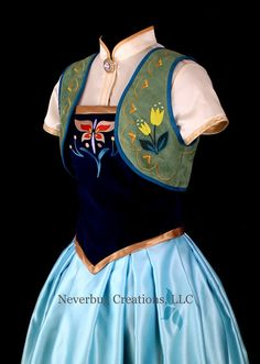 Anna Frozen Fever Custom Costume by NeverbugCreations on Etsy Anna Frozen, Princess Anna Dress, Disney Collage, Winter Fairy, Anime Crafts, Garment Bags, Straight Stitch, Clothing Labels, Cotton Velvet