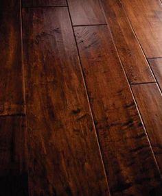 Love the handscraped hardwood floors