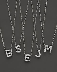 """Roberto Coin 18K White Gold """"Love Letter"""" Initial Pendant Necklace 