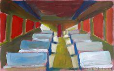 vagon 2. Venta de pinturas sobre trenes. Paintings of trains for sale. venda de pinturas de trens.