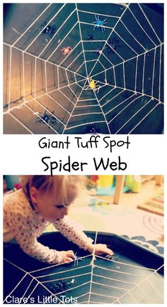 Giant Spider Web Giant Spider Web Giant Spiders Web For Halloween And Imaginative Play A Quick To Set Up Invitation To Play Giant Spider Web Tuff Spot Fun Halloween Idea For Toddlers And Preschoolers Tuff Tray Ideas Toddlers, Halloween Activities For Toddlers, Nursery Activities, Rhyming Activities, Toddler Halloween, Infant Activities, Halloween Fun, Childcare Activities, Toddler Fun