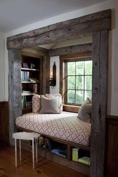I love the idea of doing an elevated bench type of reading corner!