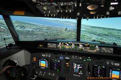 unser Boeing 737-800 Simulator Landeanflug auf Thessaloniki