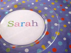 DIY: Dinner Plate Place Cards  These would be a great idea to take home as a party favor from a birthday party.