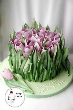 tulip easter cake