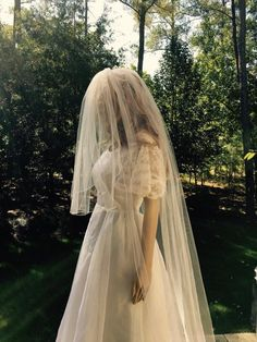 Two Tier  Bridal Veil,  Illusion Cathedral Wedding Veil