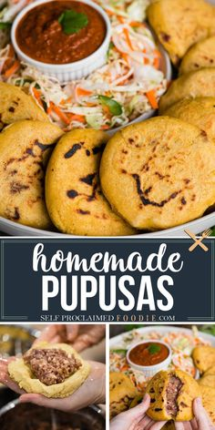 Pupusas are an easy recipe to make at home. These homemade traditional Central American pupusas have a thick corn tortilla stuffed flavorful red beans. I share my easy step by step instructions for this delicious recipe. #pupusa #homemade #video #authentic #recipe