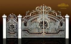 The Mizner Estate on First's media statistics and analytics Steel Gate Design, Iron Gate Design, Front Gates, Entrance Gates, Outdoor Kitchen Grill, Grill Gate, Window Grill Design, Driveway Gate, Fence