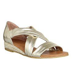 Buy Gold Metallic Leather Office Hallie Cross Strap Espadrilles from OFFICE.co.uk.