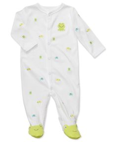 Carter's Baby Sleepwear, Baby Boys or Girls Interlock Sleep n' Play Schiffli Sleeper -Macy's  $8.98