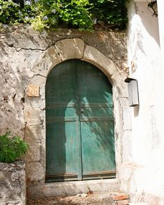 Teal Door Photograph - Sicily Italy Travel Photography Print - Aqua Door 76. Rustic and natural aqua teal door photograph from Italy. Door framed in ancient stone and brick. #76 somewhere in Sicily. Beautiful print for a peaceful bedroom or office setting. Available in a variety of standard sizes and photography paper finishes. Sold unframed and does not include mat.