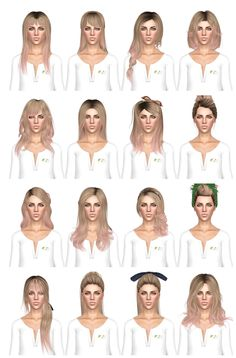 Hairstyle dump 2 by July Kapo for Sims 3 - Sims Hairs - http://simshairs.com/hairstyle-dump-2-by-july-kapo/