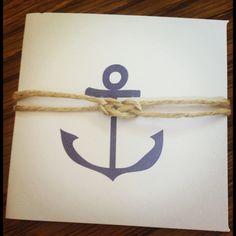 Nautical party invitations!
