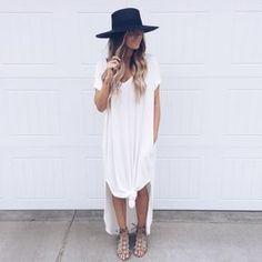 Anziehen, Mode Für Frauen, Kleidung, Sommer, Kleiderschrank, Weißes T-shirt 26a4e1b25d
