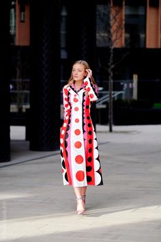Fashion Week Street Style. Kate Foley in Valentino at London Fashion Week Fall 2015. Photo © Wayne Tippetts