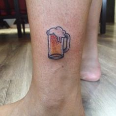 My new tattoo: beer - by my Raíssa Rodrigues, Stigma Tatuagens studio - Brazil