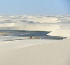 ナミブ砂漠(ナミビア)。白い砂が美しい。