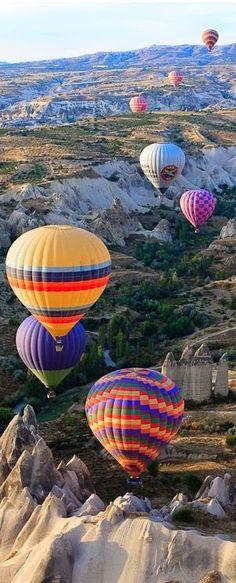 Hot air ballooning in Turkey.