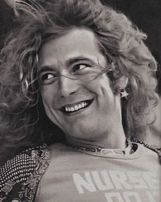 "Led Zeppelin on Instagram: ""The prettiest smile. ❤️"" Robert Plant, My Baby Daddy, Skinny Guys, Jimmy Page, Sound Of Music, Dream Guy, Led Zeppelin, Dreadlocks, Smiley"