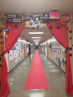 """Test Motivation """"Red Carpet"""" The Kids LOVED it!! Teachers stood around and took pictures like the paparazzi."""