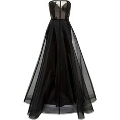 Alex Perry Harland Gown ($2,635) ❤ liked on Polyvore featuring dresses, gowns, alex perry dresses, fitted tops, strapless ball gown, ball dresses and full length ball gown