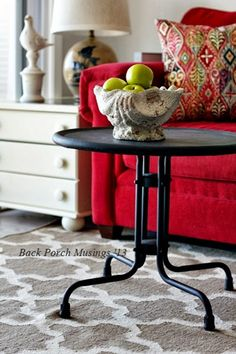 cozy little house: Cozy Home Tours bold red couch and cute round table white accents Furniture Inspiration, Interior Design Inspiration, Red Couch Living Room, Living Rooms, Red Sofa, Red Couches, Red Home Decor, Barbie Dream House, Cozy House