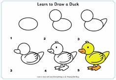 Children can learn to draw all their favourite farm animals with our fun step by step drawing lessons. Drawing Lessons, Drawing Techniques, Art Lessons, Drawing Tips, Drawing Ideas, Duck Drawing, Drawing For Kids, Art For Kids, Toddler Drawing