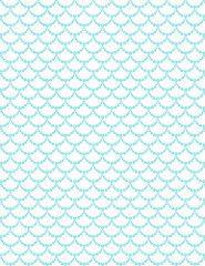 3 turquoise Garland BF outline - standard or letter size 350dpi