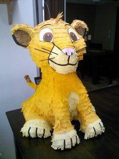 Choose the specific lion that best fits your event. **Please include your need by date & phone number in the notes when you place your order. All pinatas are made to order and can be customized in size, color or personalized. Contact me first to work out the details.  If you need it pull string style or want to add a personalized hat, include this listing to your shopping cart after selecting the style of pull strings you desire or personalized hat in the style drop box…