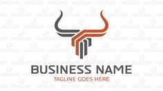 Logo for sale: Unique bull head logo to convey strength and profit growth suitable for business such as construction, marketing, consulting, financial and forex. accounting, capitals, concrete, ox, venture