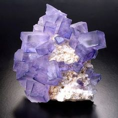 The mineral Flourite on barite, from the Taourit Mine in Morocco