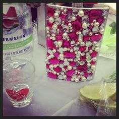 The Busy Broad: DIY Blinged Out Flask