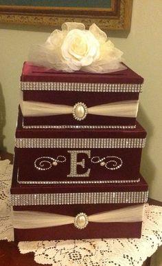 Wedding card box holder by Thatssolovely on Etsy, $75.00