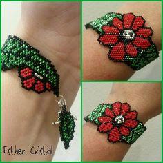 Seed Bead Patterns, Beaded Bracelet Patterns, Peyote Patterns, Beading Patterns, Beaded Earrings, Beaded Jewelry, Crochet Earrings, Beaded Bracelets, Diy African Jewelry