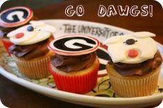 georgia bulldogs theme birthday | Georgia Bulldog Cupcakes