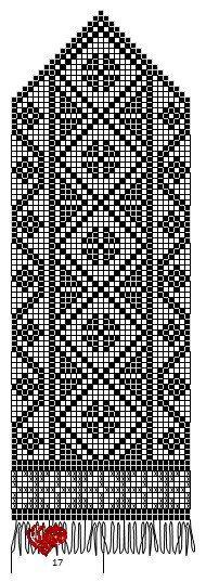 "Вязание. Жаккард - ""Зимняя радуга"" Knitted Mittens Pattern, Crochet Mittens, Knit Crochet, Knitting Charts, Knitting Socks, Knitting Patterns, Graph Design, Knitting Accessories, Craft Patterns"