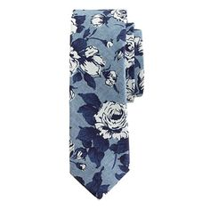 Liberty cotton tie in chambray floral - ties & pocket squares - Men's New Arrivals - J. Men's Pocket Squares, Tie And Pocket Square, Dapper Men, Men Style Tips, Suit And Tie, Silk Ties, Bow Ties, Liberty Of London, Fashion Prints